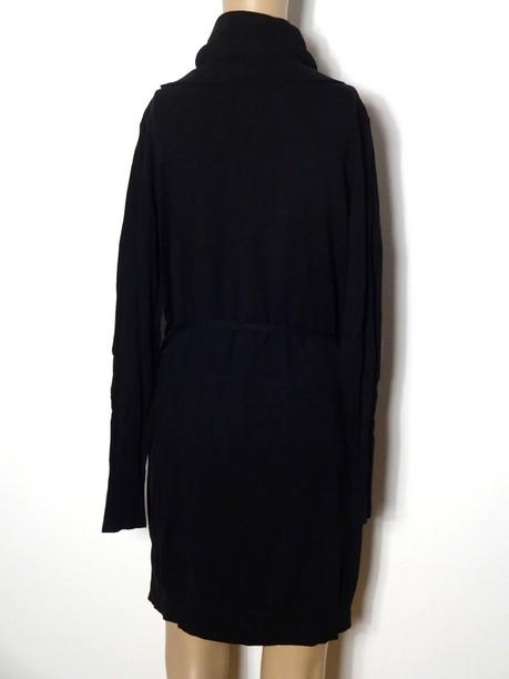 kleid gr l schwarz knielang rollkragen stiefel strick kleid tunika ebay. Black Bedroom Furniture Sets. Home Design Ideas