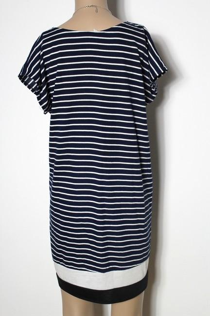 kleid gr 40 blau wei gestreift kurz a linie mini kleid tunika maritimer look. Black Bedroom Furniture Sets. Home Design Ideas