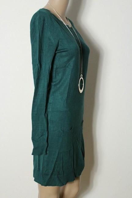kleid gr s gr n knielang stiefel strick kleid mit taschen. Black Bedroom Furniture Sets. Home Design Ideas