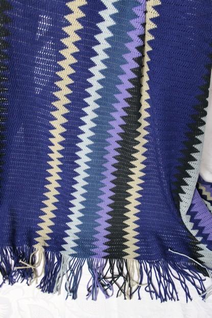 ethno strick decke plaid tagesdecke berwurf blau lila von ikea ebay. Black Bedroom Furniture Sets. Home Design Ideas
