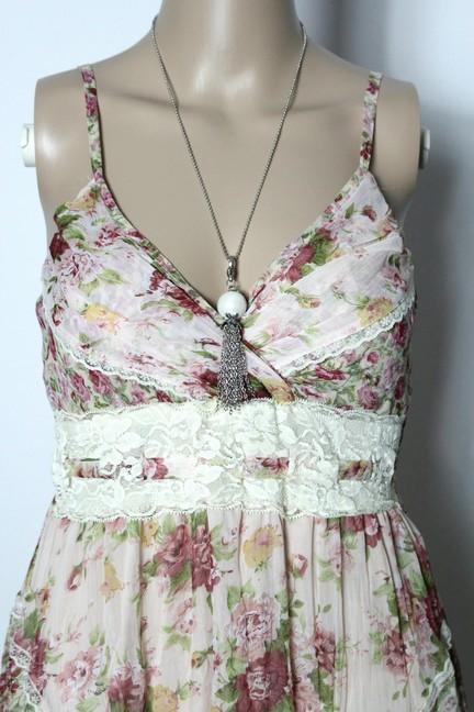 kleid gr 38 40 zart rosa empire rosen tr ger kleid mit. Black Bedroom Furniture Sets. Home Design Ideas