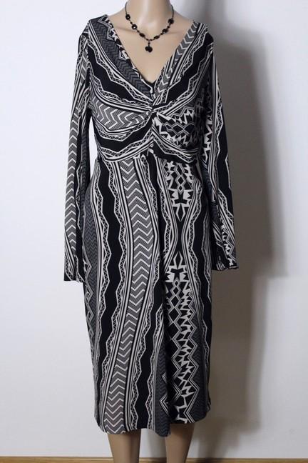 yessica kleid gr 42 schwarz creme wei ethno muster empire strech kleid a ebay. Black Bedroom Furniture Sets. Home Design Ideas