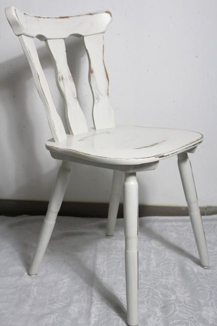 k chenstuhl holzstuhl stuhl bauernstuhl creme wei 60er country landhaus shabby ebay. Black Bedroom Furniture Sets. Home Design Ideas