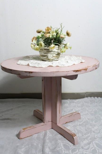 Shabby tisch beistelltisch gartentisch aus holz ros rosa for Jugendzimmer 60er