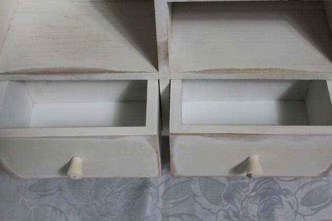holz k chenregal h ngeregal gew rzregal mit schubladen creme wei im shabby chic ebay. Black Bedroom Furniture Sets. Home Design Ideas