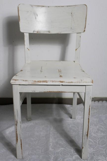 4x shabby holzstuhl stuhl bauernstuhl bunt 60er jahre for Holzstuhl bunt