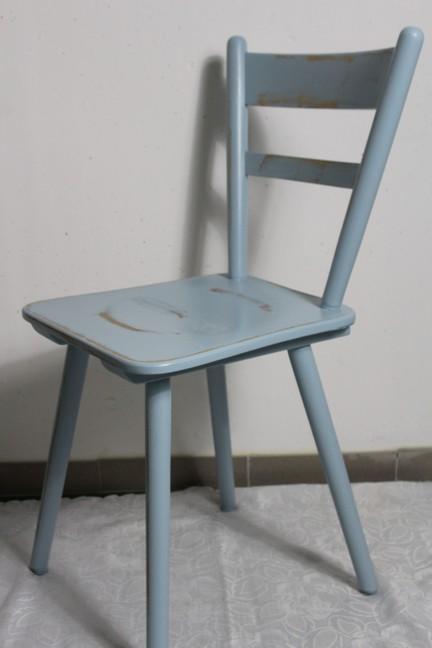 Deko k chenstuhl holzstuhl stuhl rauch blau 60er jahre for Jugendzimmer 60er