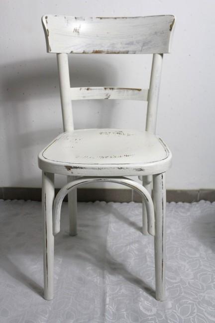 4x shabby holzstuhl stuhl bauernstuhl bunt stabil 60er for Holzstuhl bunt