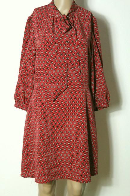 PRIMARK Kleid Gr. 42 A-Linie Chiffon Kleid knielang rost ...